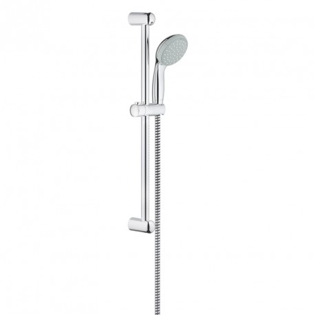 Grohe 27598000 New Tempesta, set asta doccia, lunghezza 600 mm, manopola diametro 100 mm, 2 getti, cromo
