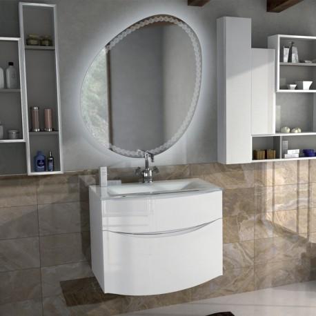 Mobile composto, Linea Sirio 74 cm, bianco lucido
