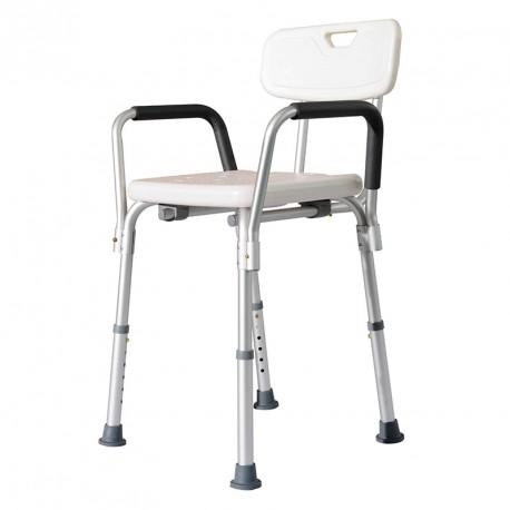 Intermed Seggiolino da doccia con schienale e braccioli - Sedia regolabile