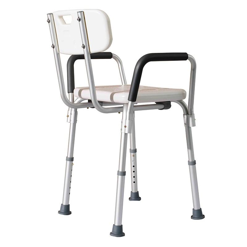 Intermed seggiolino da doccia con schienale e braccioli - Schienale sedia ...